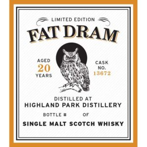 Fat Dram Highland Park - Aged 20 Years - Cask No 13672