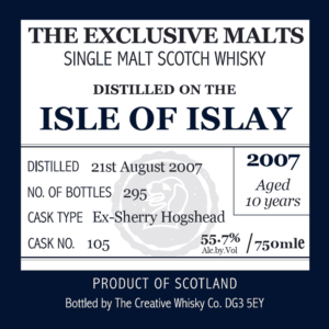 The Exclusive Malts - Isle Of Islay (Lagavulin) - 2007 - Aged 10 Years